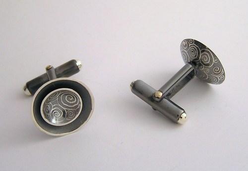 'Concave universe' cufflinks