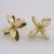Four-pod gold stud earrings