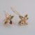 Four-pod rose gold hook earring