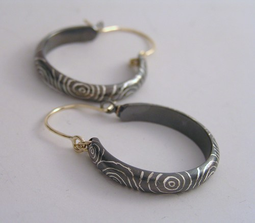 'Whorls and whirls' earrings