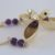 Three-pod necklace with amethyst