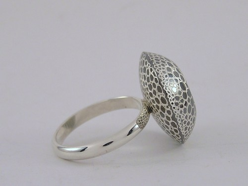 'Lizard reflections' ring